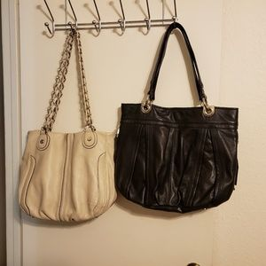 Two leather B Makowsky bags